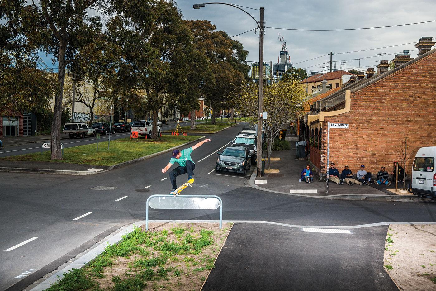 Frontside nosegrind, Melbourne